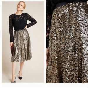 NWT Anthropologie Orleans sequined skirt